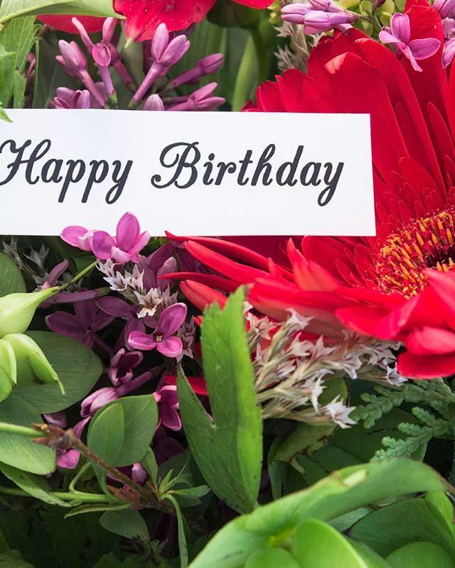 Arreglos florales - cumpleaños
