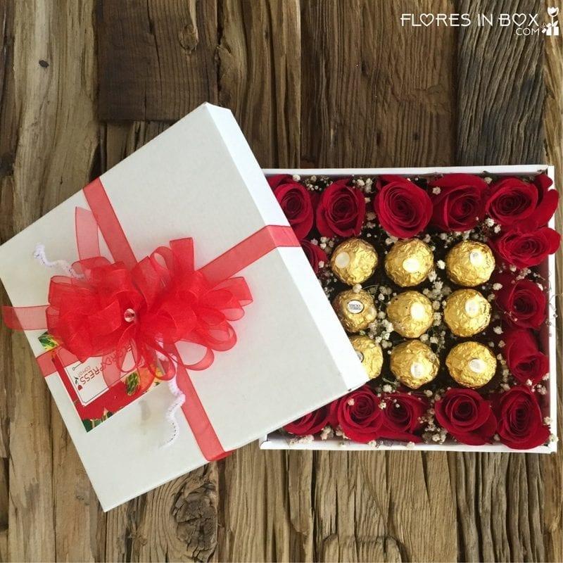 Arreglos Florales, cajas de rosas, rosas con chocolates