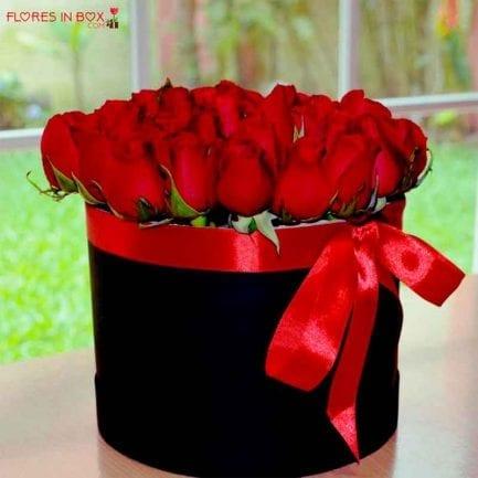Arreglos florales: flores rojas